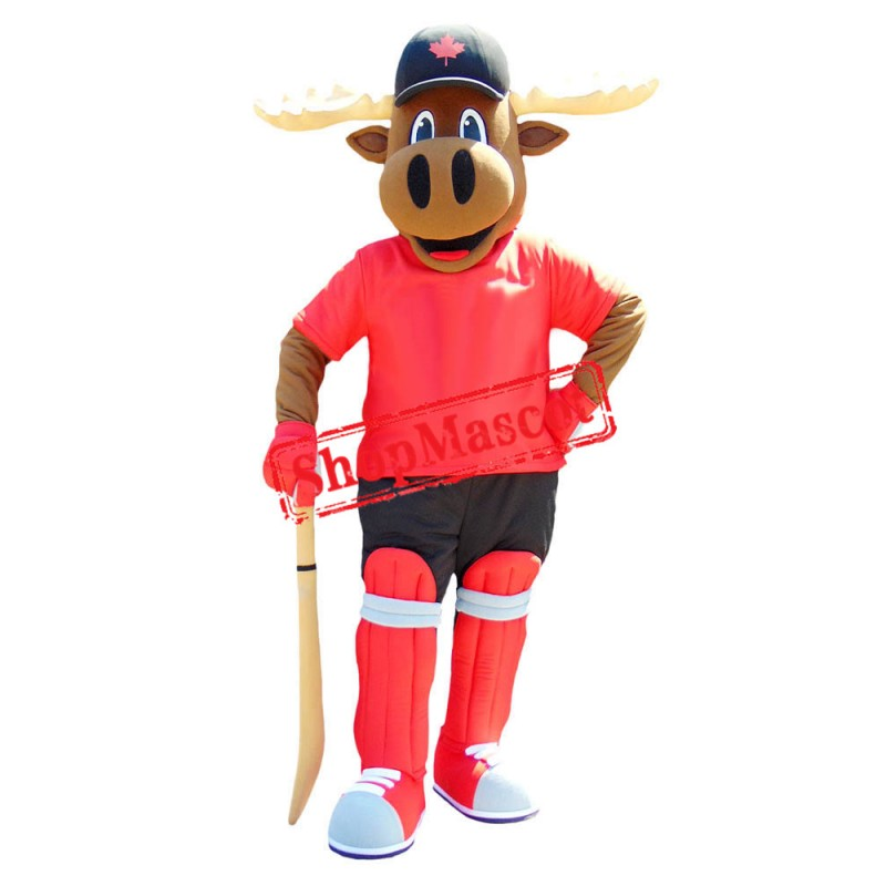 Superb Sport Moose Mascot Costume