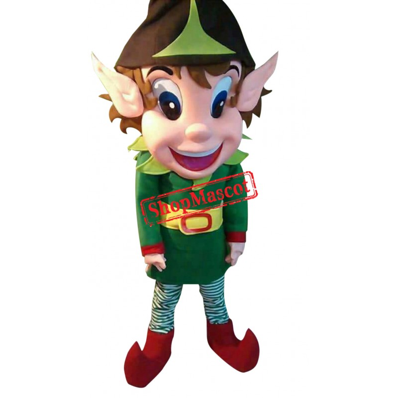 Christmas Elf Santa Claus Helper Mascot Costume