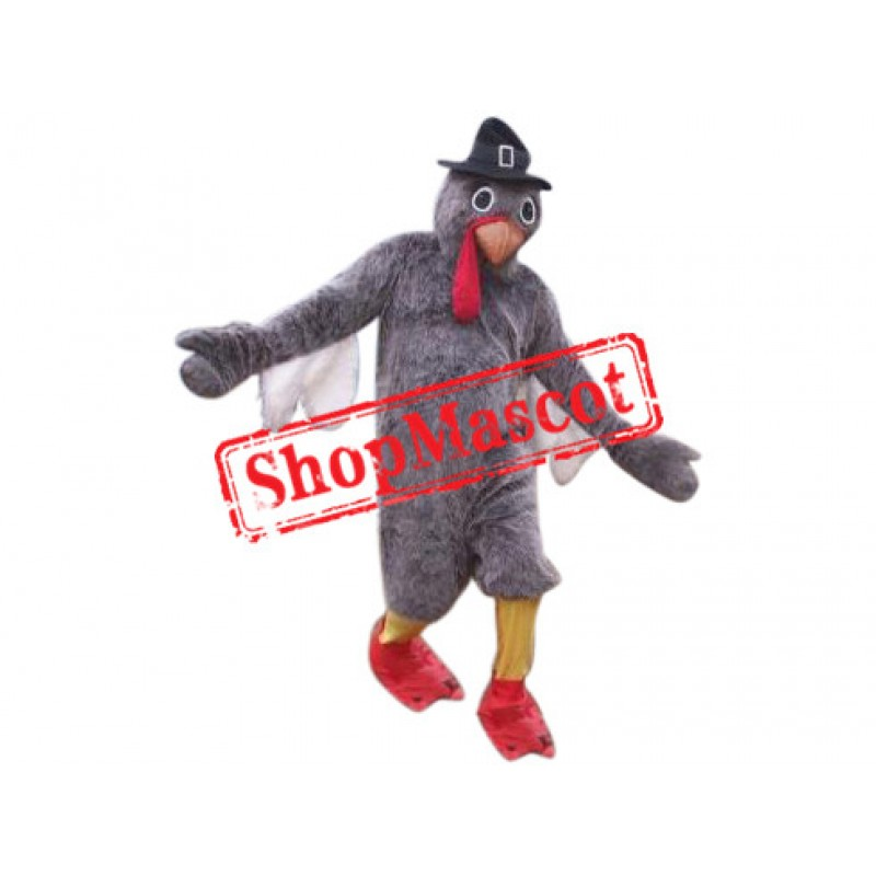 Grey Lightweight Turkey Mascot Costume