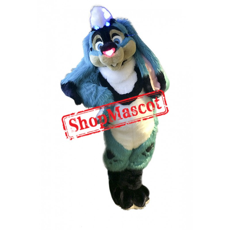 Superb Blue Rabbit Mascot Costume
