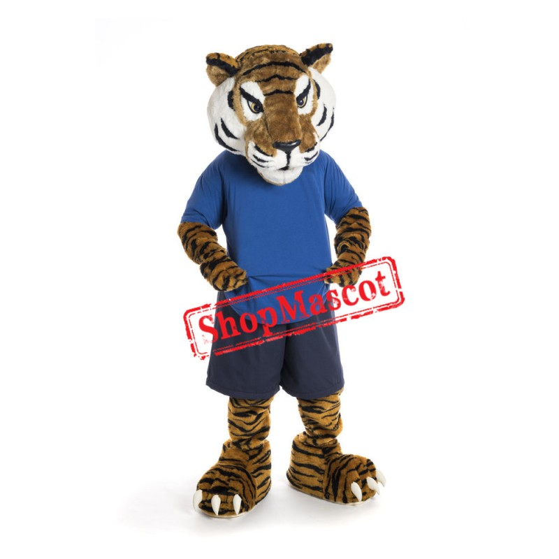 Superb Sport Tiger Mascot Costume