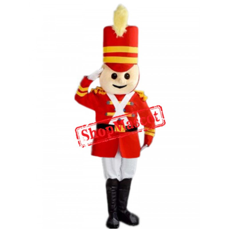 British Soldier Boy Mascot Costume