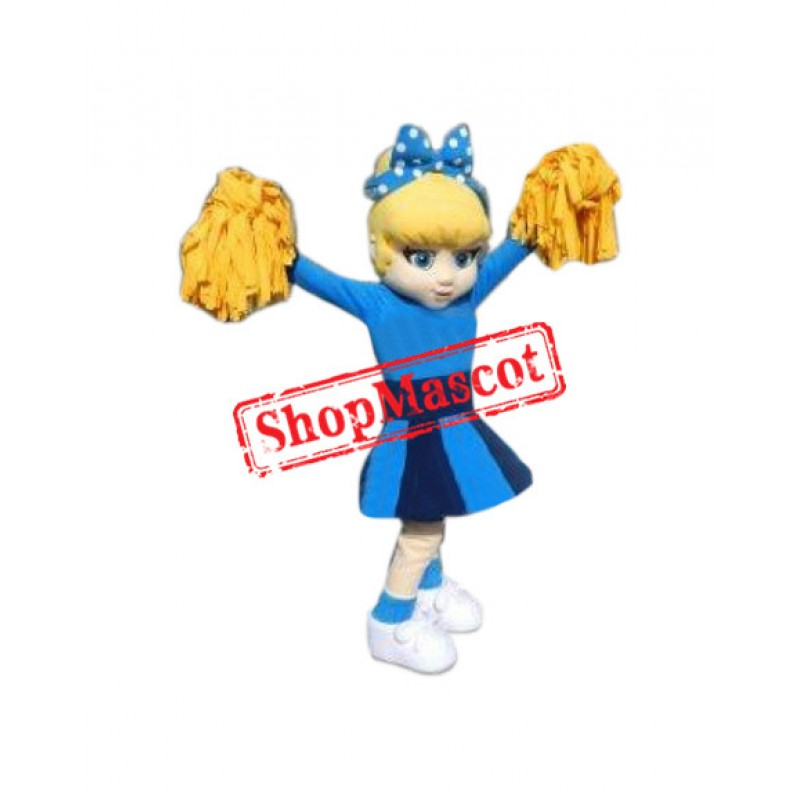 Superb Cheerleader Mascot Costume