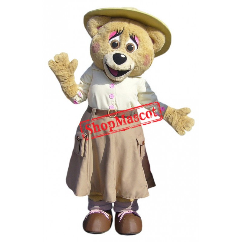 Beautiful Bear Mascot Costume