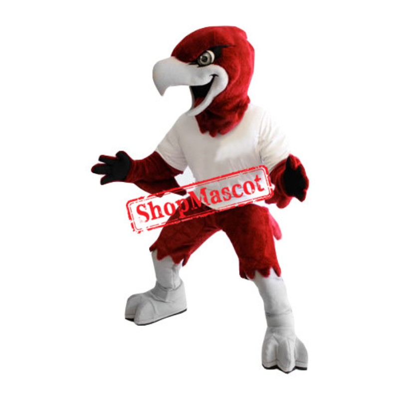 Red Fierce Eagle Mascot Costume