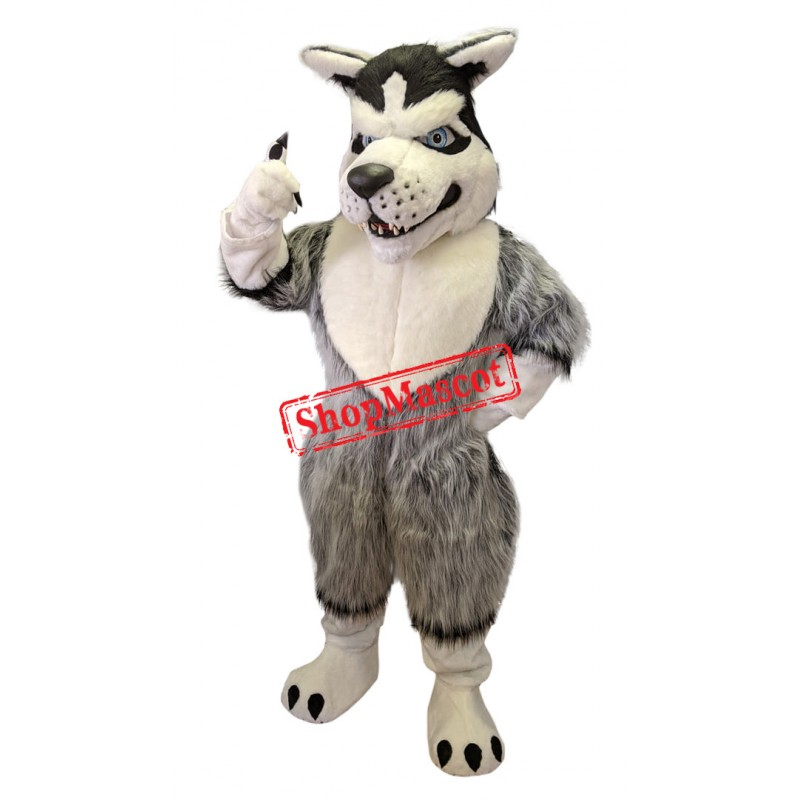 Fierce Wild Wolf Mascot Costume