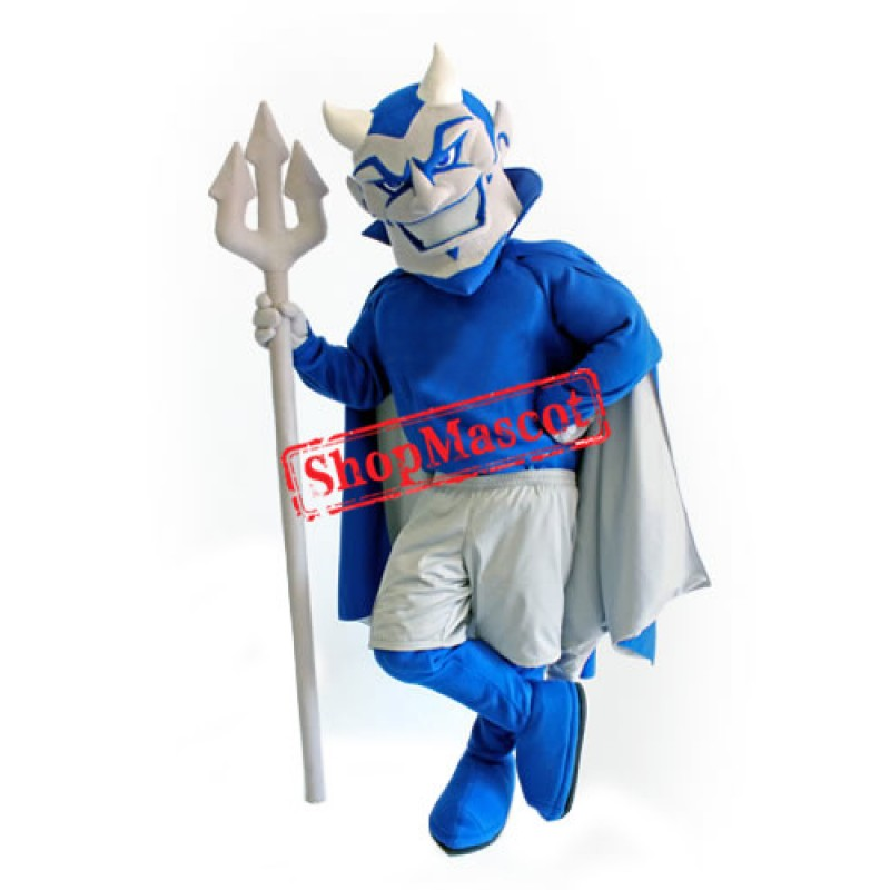 Superb Lightweight Blue Devil Mascot Costume