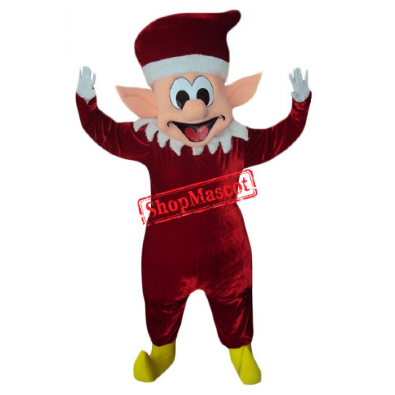 Cute Christmas Elf Mascot Costume