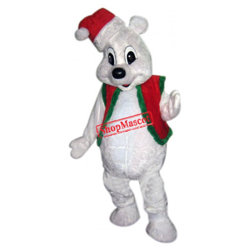 Lovely Christmas Polar Bear Mascot Costume