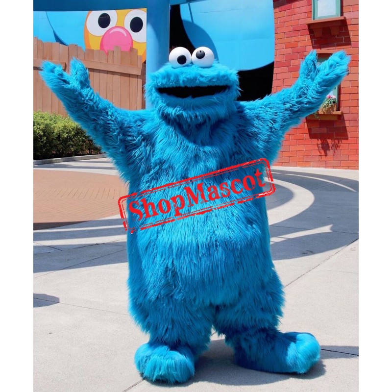 Superb Blue Sesame Street Cookie Monster Mascot Costume