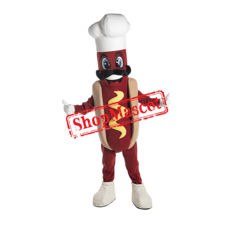 Chef Hot Dog Mascot Costume