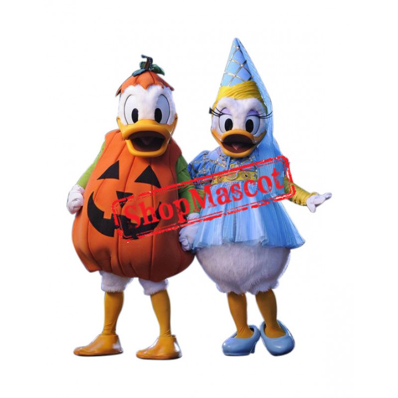 Donald Duck And Minnie Mascot Costume