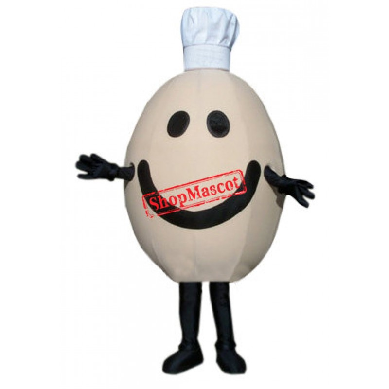 Chef Egg Mascot Costume