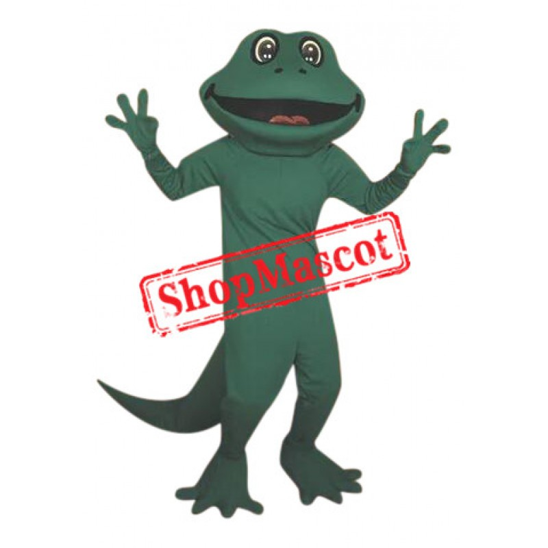 Happy Realistic Frog Mascot Costume