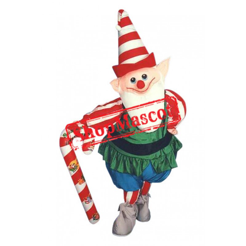 Happy Christmas Elf Mascot Costume