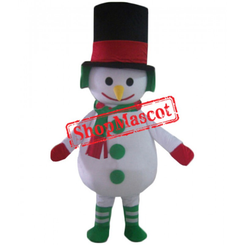 Affordable Lightweight Christmas Snowman Mascot Costume