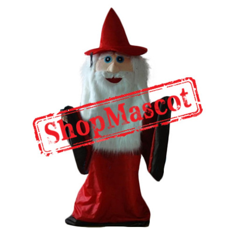 Red Coat Wizard Mascot Costume