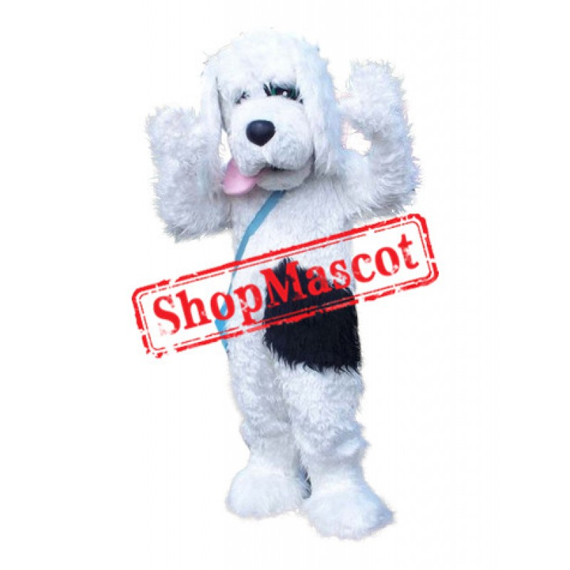 Superb Plush White Dog Mascot Costume