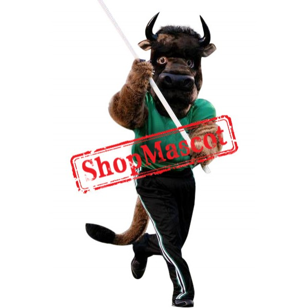 Superb Sport Buffalo Mascot Costume