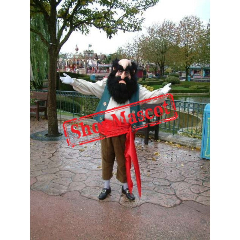 Superb Old Pirate Mascot Costume