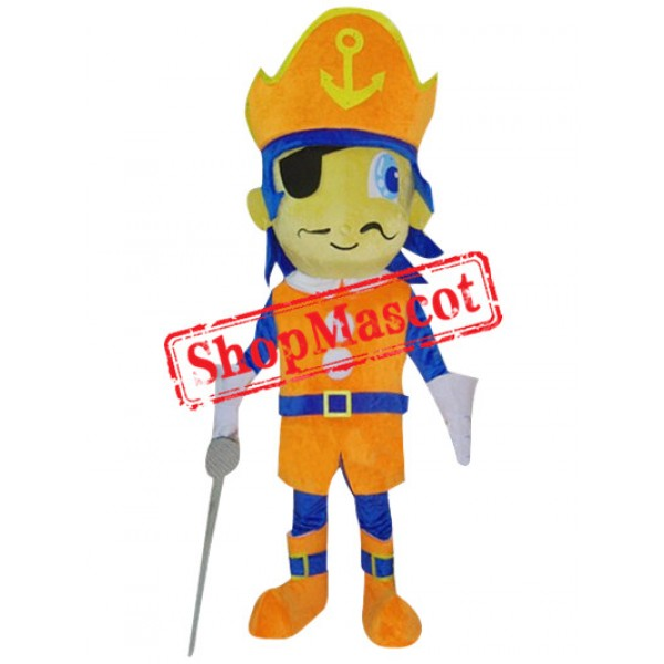 Affordable Pirate Boy Mascot Costume