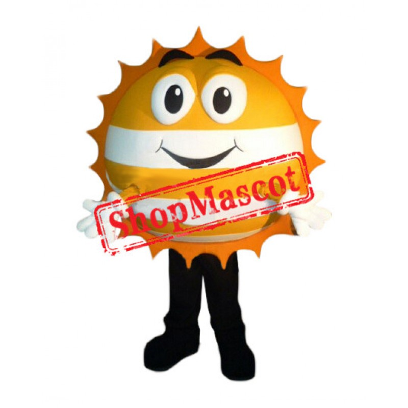 Golden Happy Sun Mascot Costume