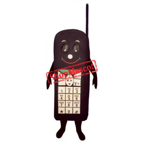 Black Cell Phone Mascot Costume