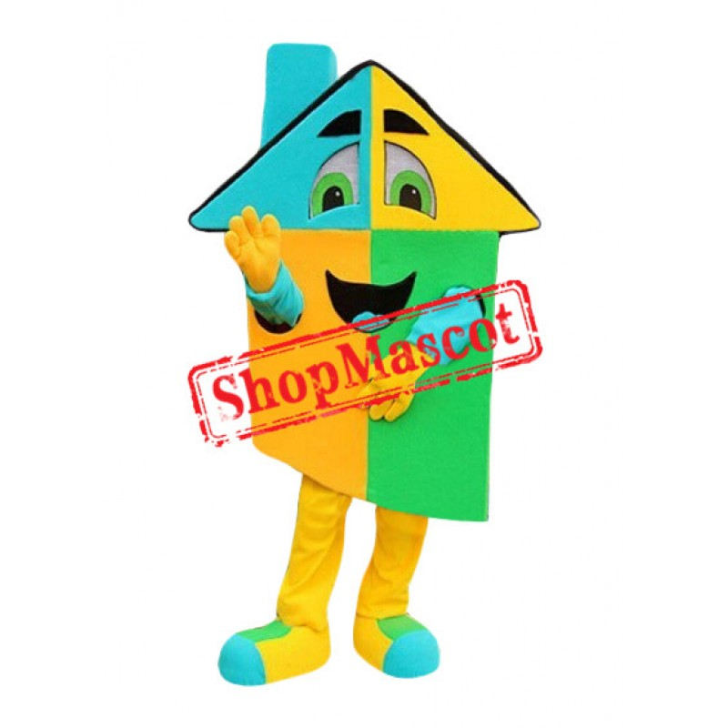 Superb Colorful House Mascot Costume