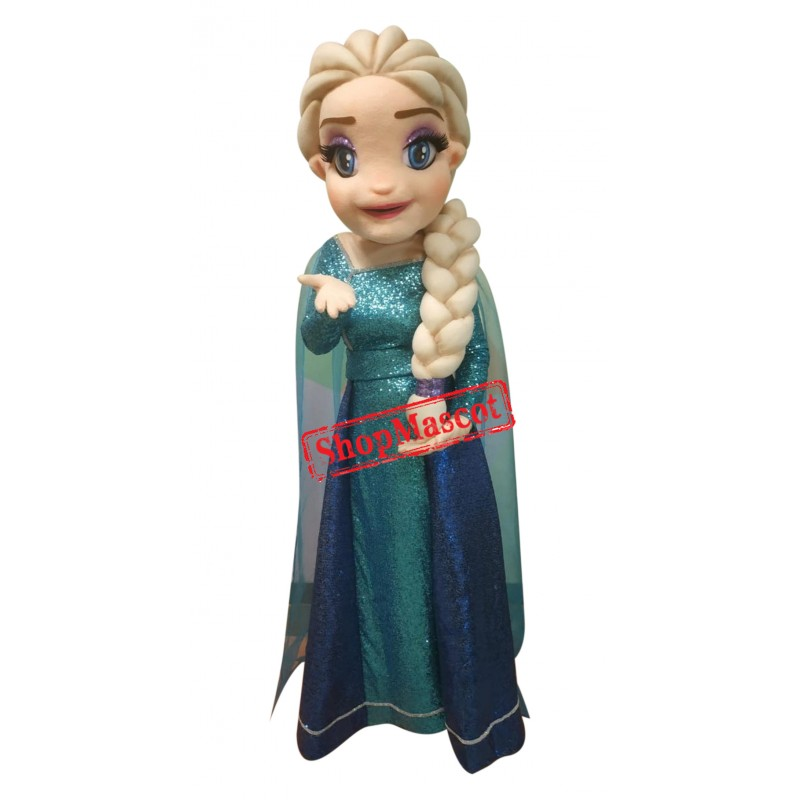 Superb Frozen Elsa Mascot Costume