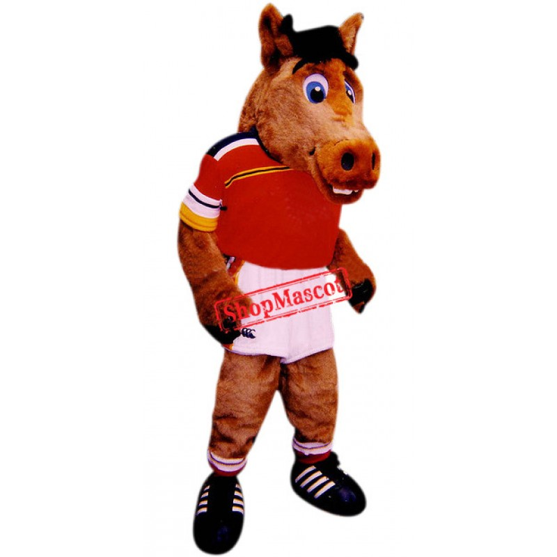 College Sport Mustang Mascot Costume