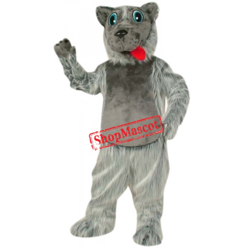 Super Cute Grey Wolf Mascot Costume