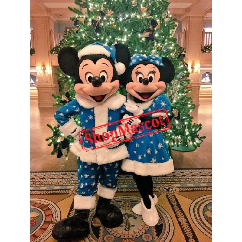 Superb Christmas Mickey and Minnie Mascot Costume