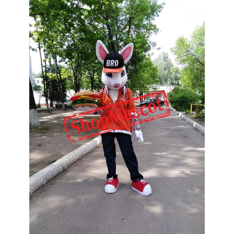 Superb White Rabbit Mascot Costume
