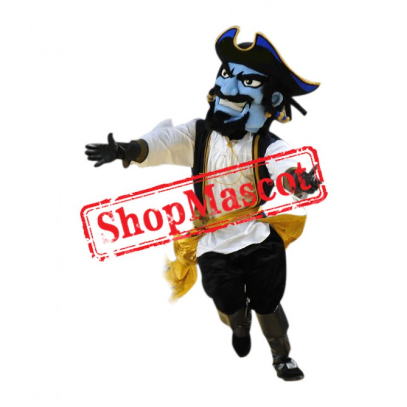 Superb Blue Pirate Mascot Costume