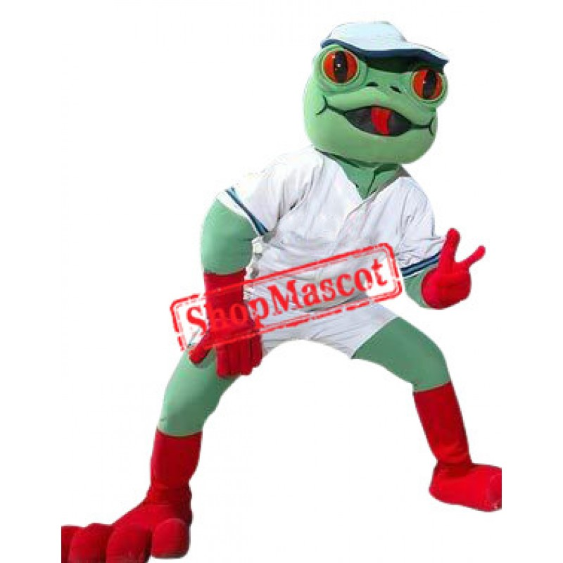 Superb Sport Frog Mascot Costume