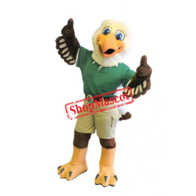 Friendly College Eagle Mascot Costume