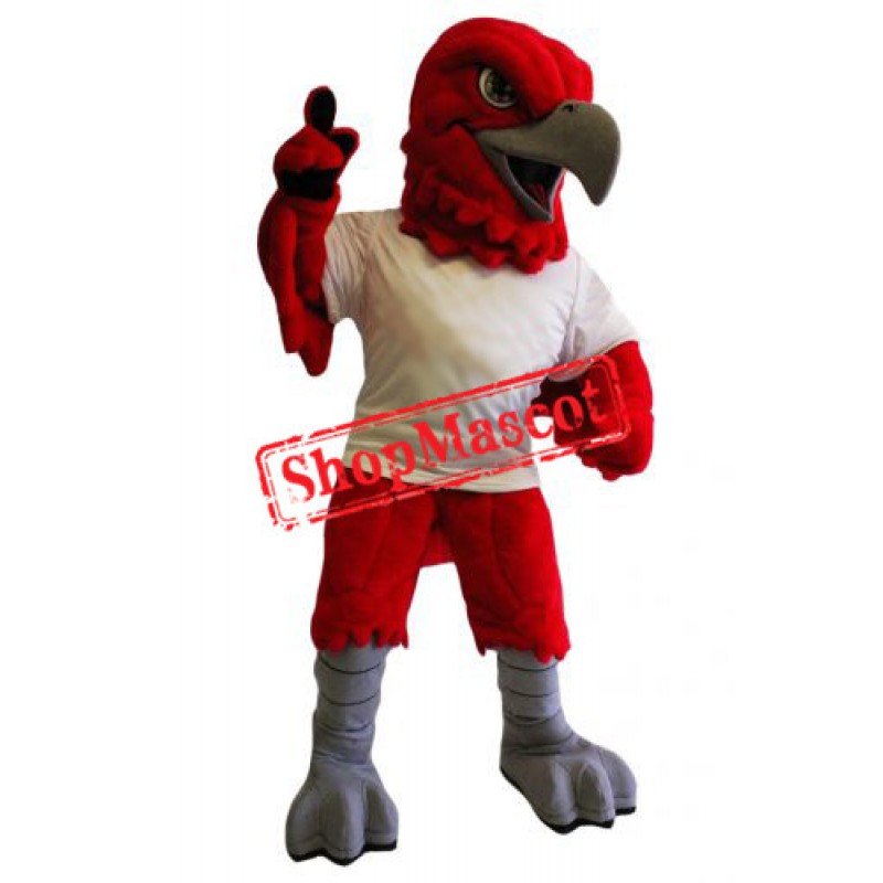 Red Sport Eagle Mascot Costume