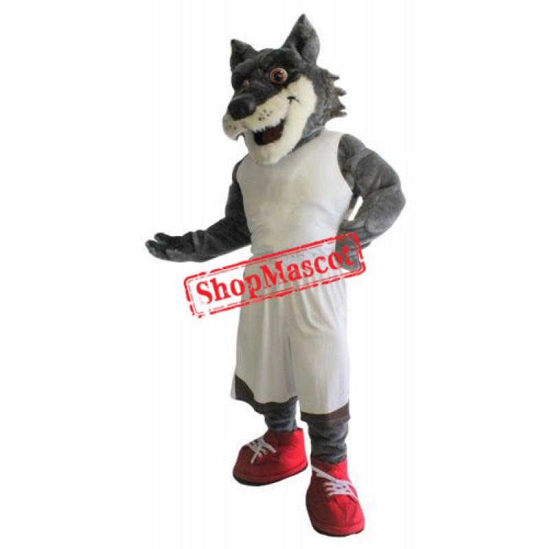 Power Sport Wolf Mascot Costume