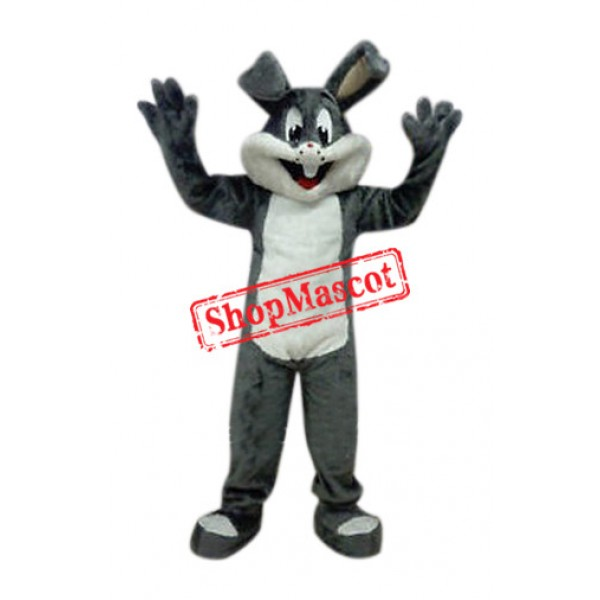 Affordable Easter Grey Bunny Mascot Costume