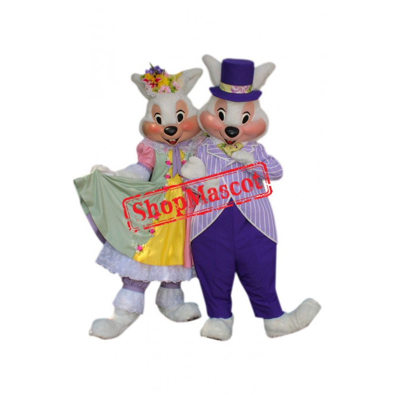 Mr. & Mrs. Easter Bunny Mascot Costume