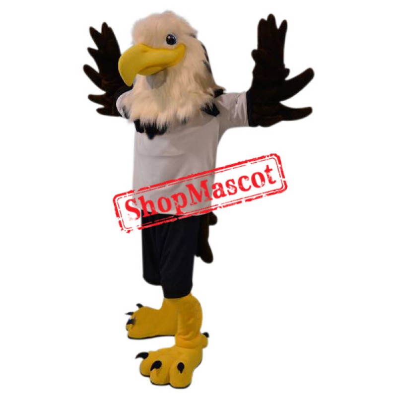Superb Realistic University Eagle Mascot Costume