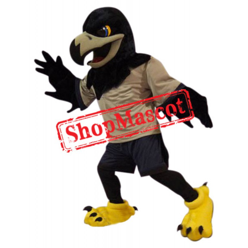 Superb Black Eagle Mascot Costume