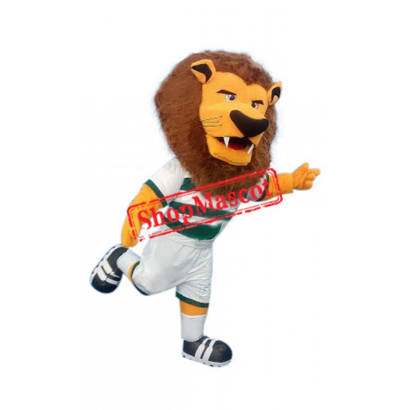 Superb Sport Lion Mascot Costume