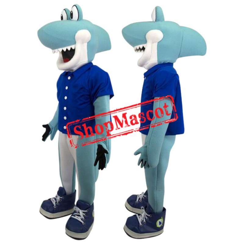 Superb Cute Shark Mascot Costume