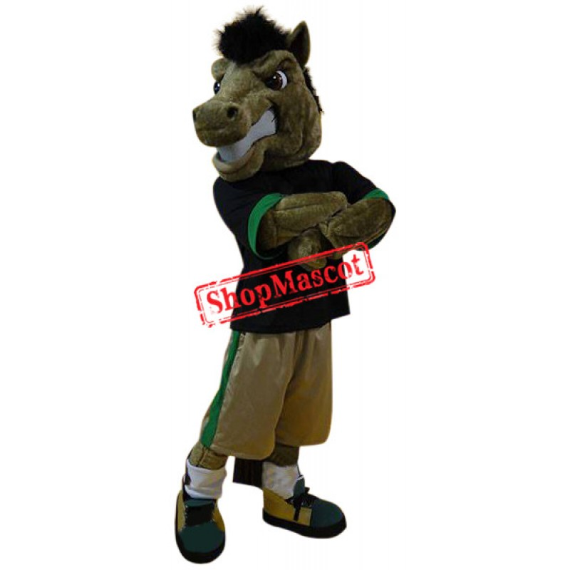 Superb Power Sport Horse Mascot Costume