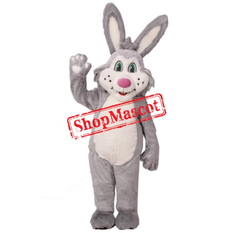Grey Bunny Girl Mascot Costume