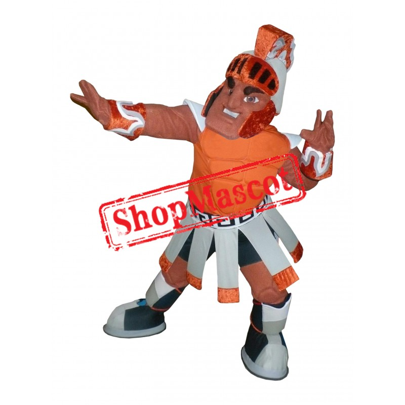 Orange Titan Mascot Costume