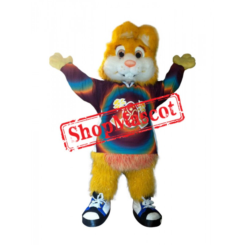 Superb Yellow Bunny Mascot Costume