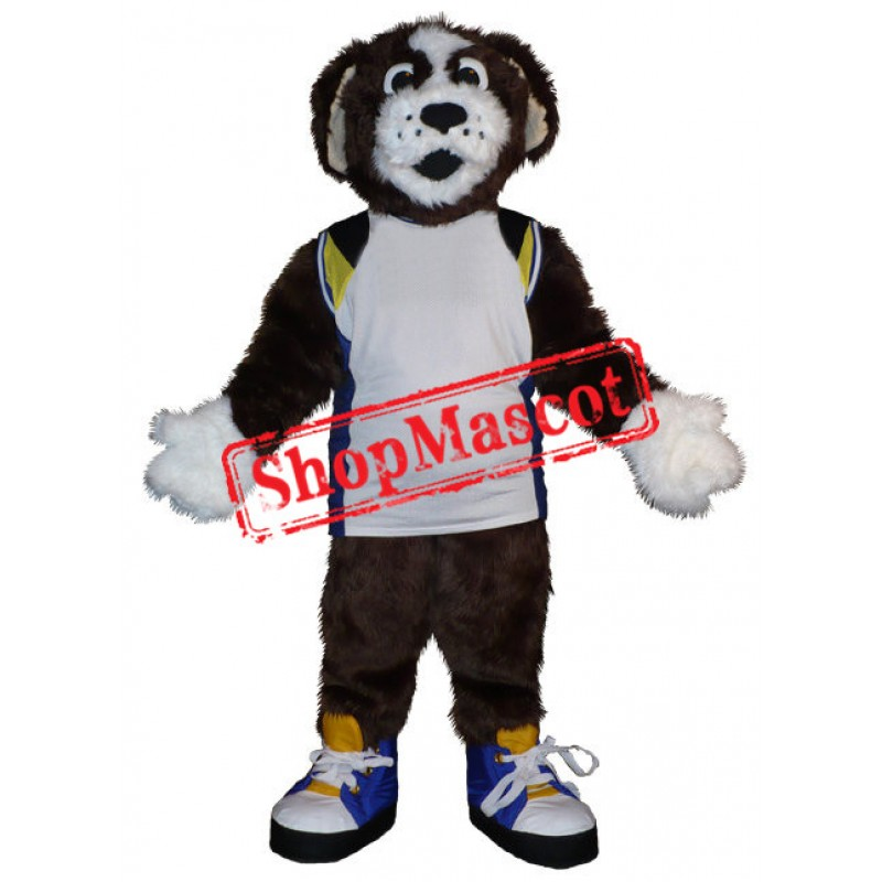 Superb Brown & White Dog Mascot Costume