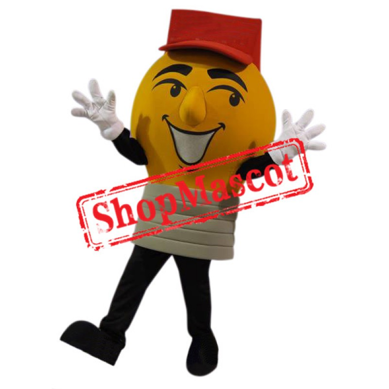 Yellow Light Bulb Mascot Costume